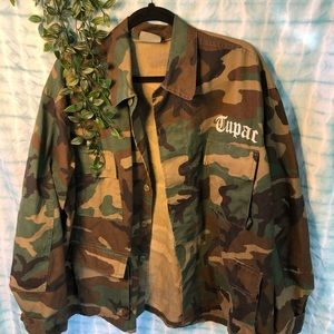 Tupac All Eyez on Me Army Camo Jacket XL
